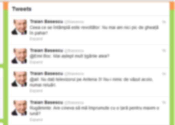 Vezi ce a scris Băsescu pe contul său de Twitter
