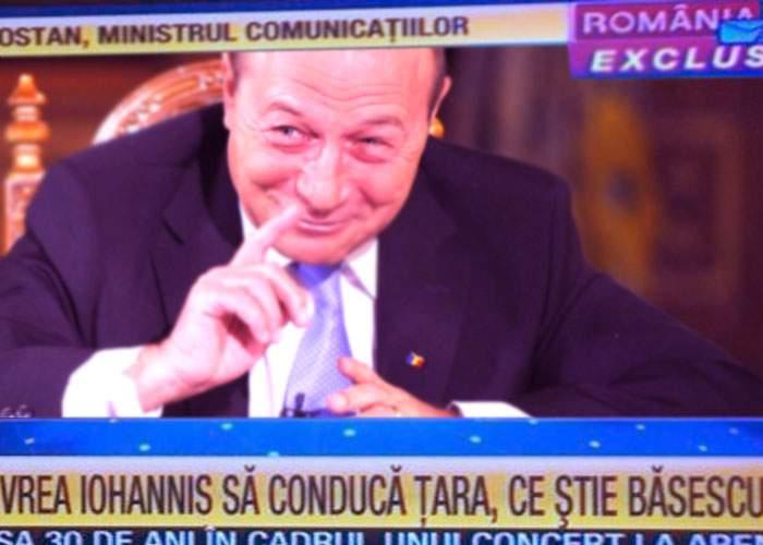Băsescu promite că se lasă de băut după ce a aflat că aseară a fost la RTV