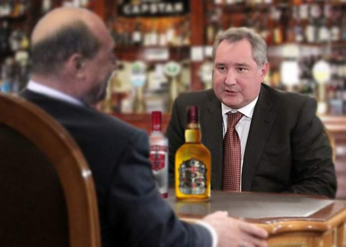 Băsescu și Rogozin tranșează totul la Yalta! Cel care rezistă mai mult la băutură, câștigă