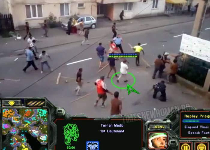 Imaginile sărăciei! Două clanuri de rromi s-au încăierat cu bâte, că n-au bani de Starcraft