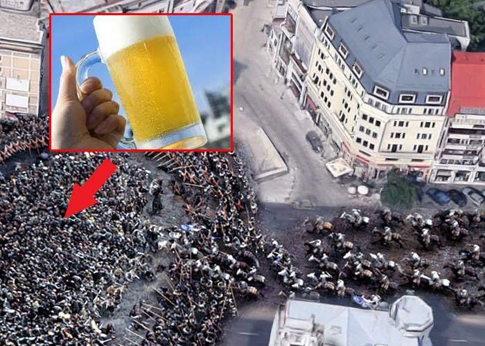 Mai epic ca-n Game of Thrones. Mii de bucureşteni s-au bătut în Centrul Vechi pe singura bere rece