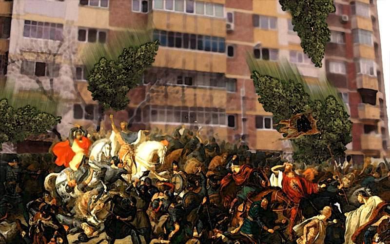 Ca la Posada! Armată invadatoare, biruită de românii care aruncau brazi de la etaj