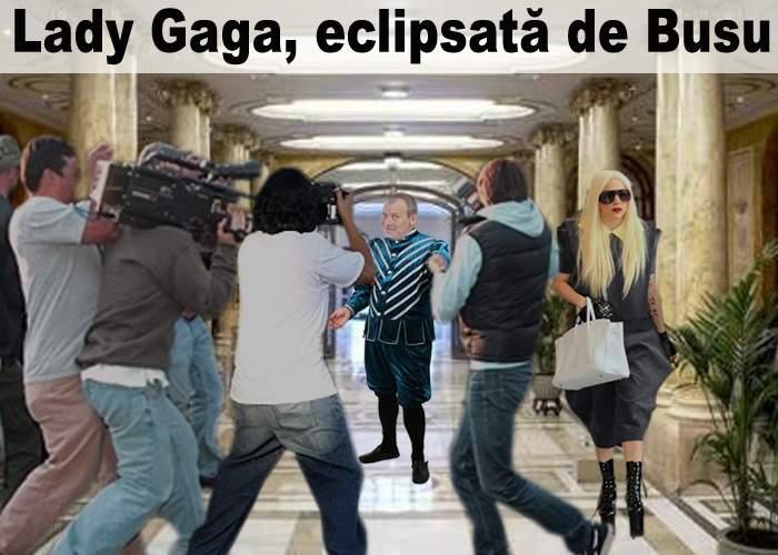 Lady Gaga, eclipsată de Busu la sosirea în România