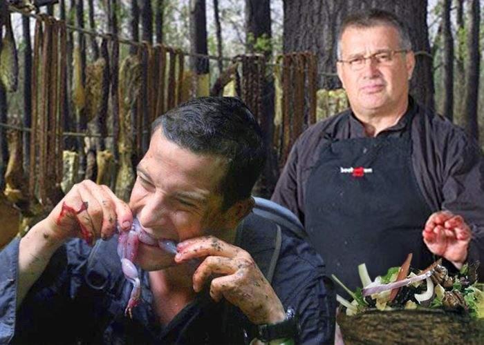 """Bear Grylls va prezenta emisiunea """"Cum să supravieţuieşti cu ce găteşte Mircea Dinescu"""""""