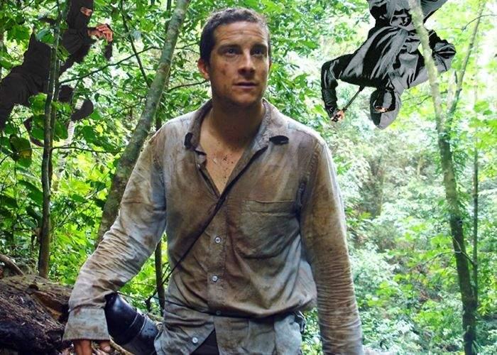 """Bear Grylls lansează documentarul """"Cum să supraviețuiești într-o pădure plină de ninja"""""""