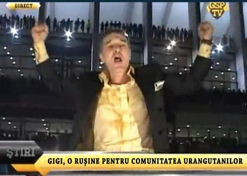 Purtătorul de cuvânt al urangutanilor şi-a cerut scuze pentru comportamentul lui Gigi Becali