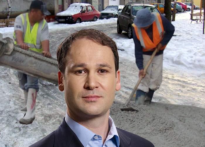"""Robert Negoiţă, soluţie ingenioasă la problema gheţuşului! """"Am turnat beton peste el"""""""