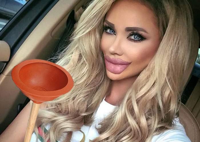 Bianca Drăguşanu şi-a mărit iar buzele şi acum poate desfunda chiuveta cu ele