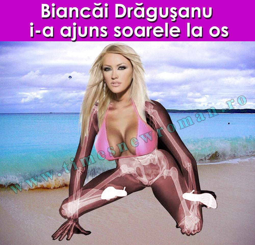 Bianca Drăguşanu a fost surprinsă la plajă cu totul la vedere
