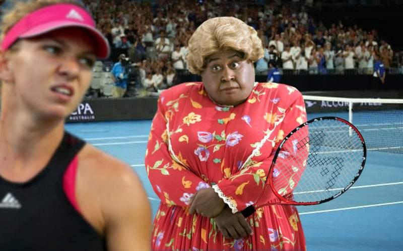 Meciul Simonei se anulează, că Serena era Martin Lawrence costumat în Big Momma