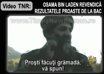Osama bin Laden revendică rezultatele proaste de la Bac