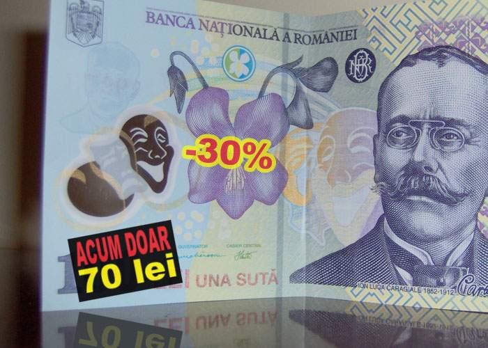 """Isărescu anunţă reduceri de Black Friday: """"Bancnota de 100 de lei va valora doar 70"""""""