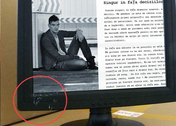 Miracol! Un monitor a lăcrimat în timp ce afişa blogul lui Tudor Chirilă