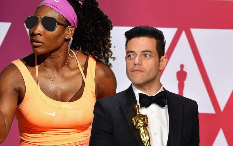S-a aflat ce căuta Serena Williams la Oscaruri: era bodyguardul lui Rami Malek!