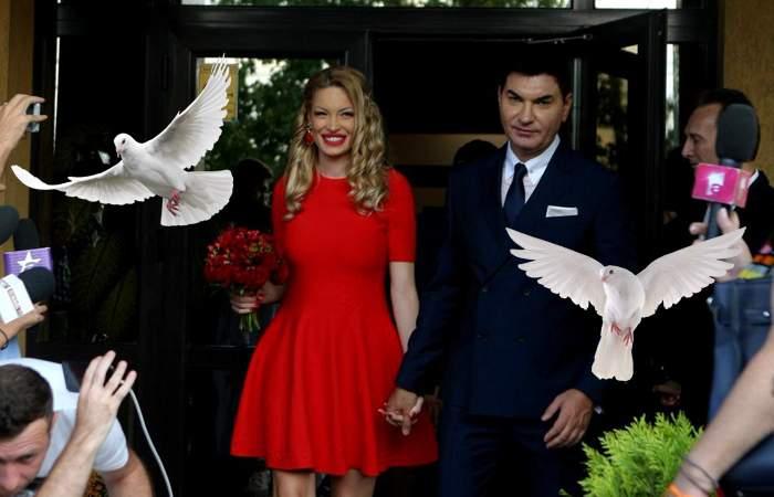 Porumbeii eliberați la nunta de ieri a lui Cristi Borcea au rămas însărcinați. Toți!