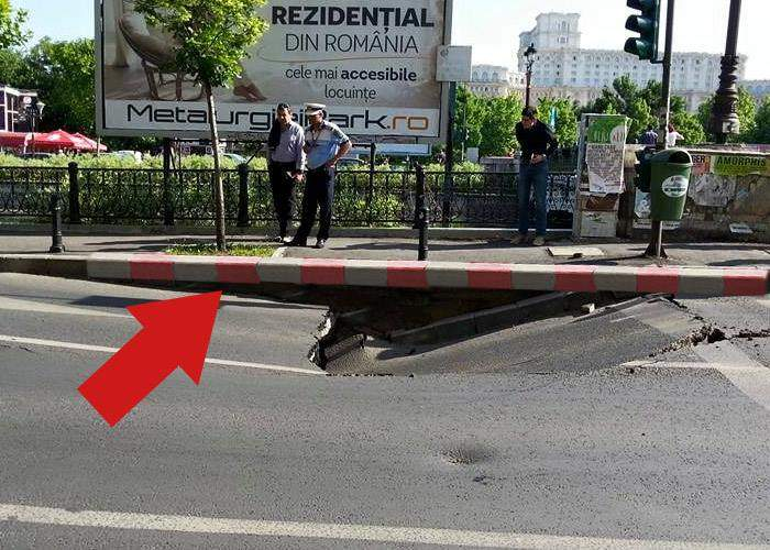 Eficiență maximă! Bordurile de la podul prăbușit la Izvor au fost deja schimbate de Oprescu