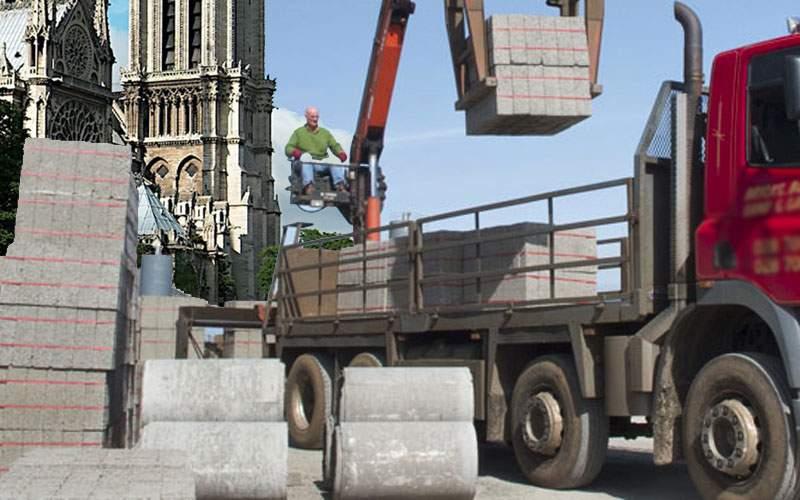 Primarii români donează 10 tone de borduri pentru refacerea catedralei Notre Dame