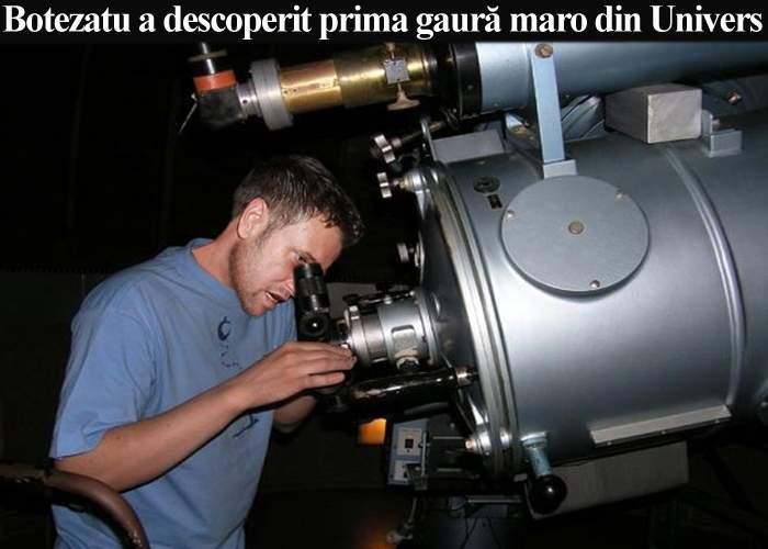 Cătălin Botezatu a descoperit prima gaură maro din Univers