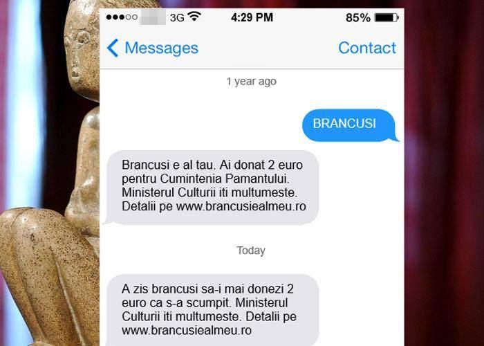 """Cei care au donat pentru """"Cuminţenie"""" sunt obligaţi să mai dea câte 2 euro fiindcă s-a scumpit Brâncuşiul"""