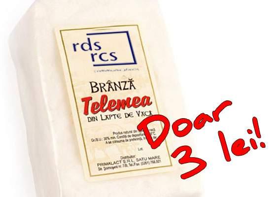 După ofertele la telefonia mobilă, RDS a lansat și brânza telemea la 3 lei / kg