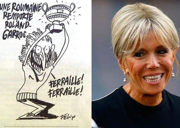 Ruşine, Charlie Hebdo! Au jignit-o grav pe prima doamnă a Franţei, făcând-o hoaţă şi româncă