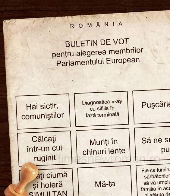 Poza zilei! BEC a publicat noile buletine de vot pentru alegerile europarlamentare