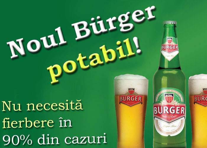 Inedit! Burger va scoate pe piaţă o bere potabilă