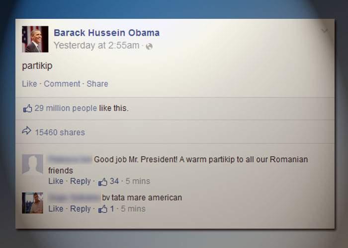 "Barack Obama, mesaj emoţionant de Ziua Limbii Române: ""Partikip!"""