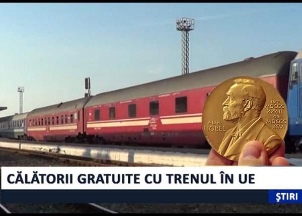 Guvernul promite 12 călătorii gratuite cu CFR pentru orice român câștigător de premiu Nobel
