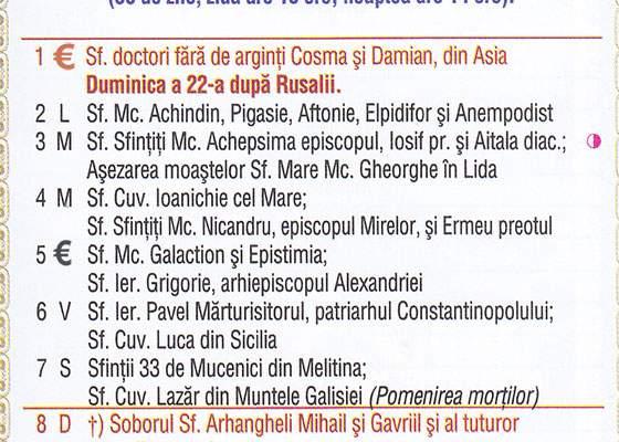 Calendar Ortodox 2016. Zilele în care trebuie să dai bani la biserică vor fi marcate cu semnul Euro
