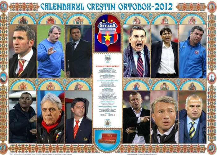 Gigi Becali a lansat calendarul creştin-ortodox al antrenorilor stelişti
