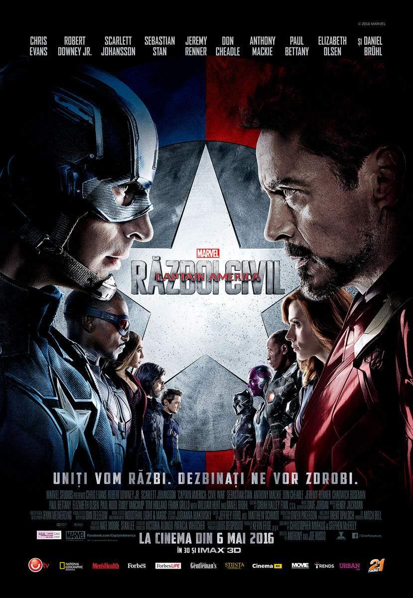Captain America: Civil War (3D) (2016) – Dezbină și uluiește!