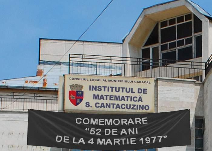 Institutul de Matematică din Caracal comemorează 52 de ani de la cutremurul din 1977