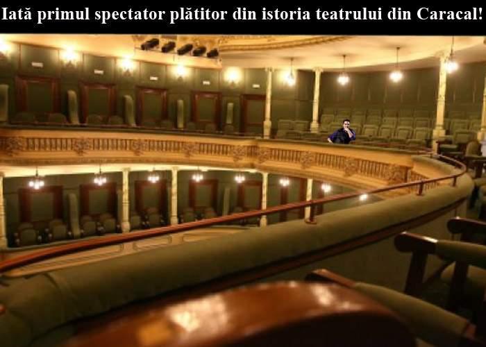 Moment istoric! Teatrul din Caracal a reuşit să vândă primul bilet din istorie