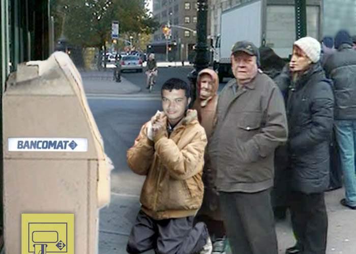 Caracalenii au făcut coadă la un bancomat despre care se spune că dă bani cu împrumut