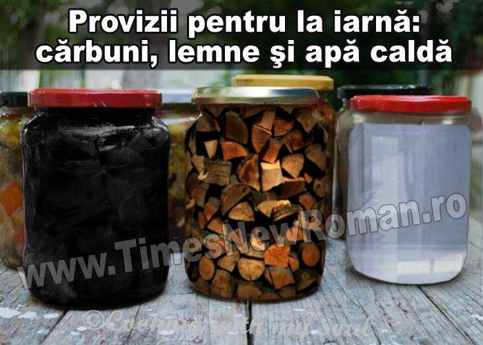 Febra proviziilor: gospodinele pun la borcan cărbuni, lemne şi apă caldă