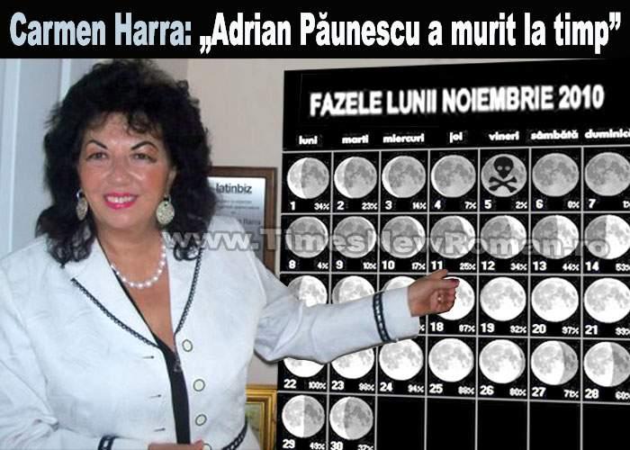 """Carmen Harra: """"Haloweenul i-a fost fatal lui Adrian Păunescu"""""""