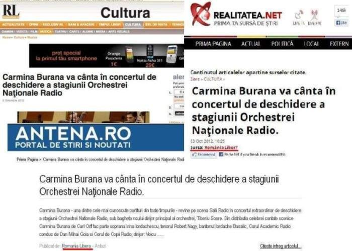 Breaking News! Carmina Burana şi-a anulat concertul din România