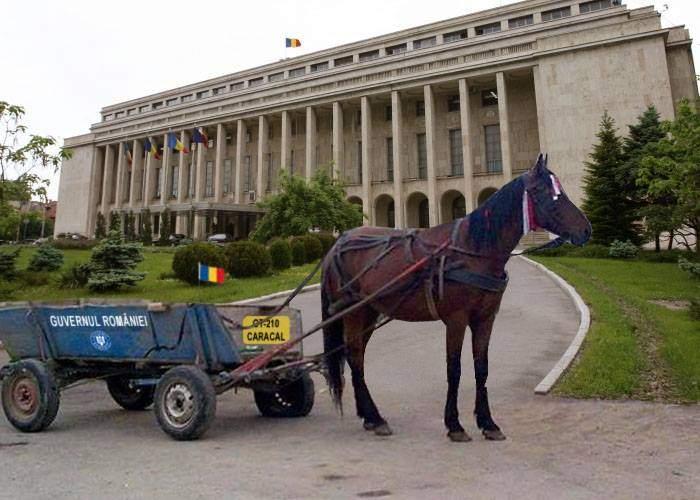 Căruţa ceremonială din Caracal a fost adusă la București, ca să transporte noii miniştri la Palatul Victoria