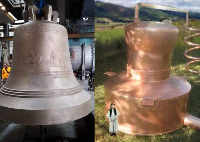 Opulenţă! Un gospodar din Bihor are un cazan de ţuică mai mare decât clopotul Catedralei Neamului