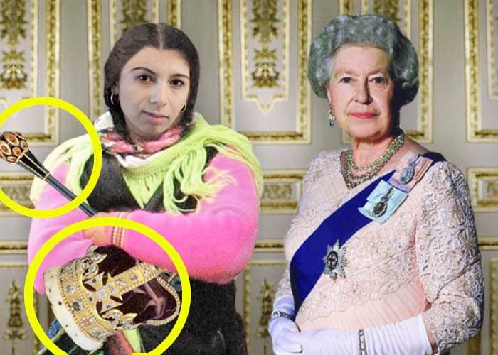 Regina Angliei a primit în vizită o româncă de etnie romă. Vezi aici ce i-a luat reginei!
