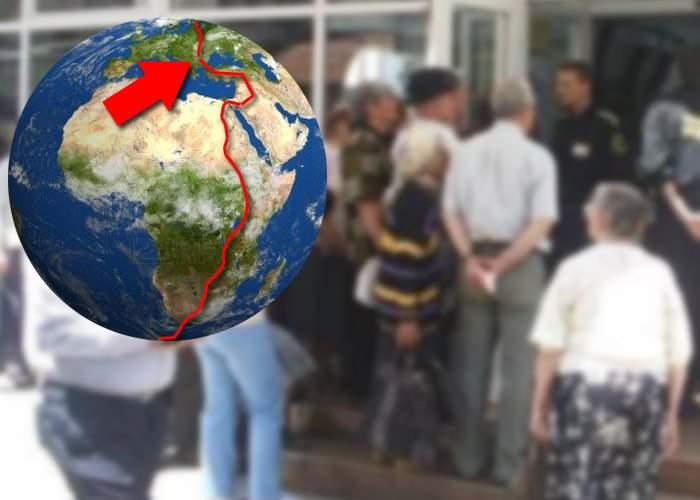 Record mondial! Un ghişeu ENEL din Bucureşti se laudă cu prima coadă care înconjoară Pământul