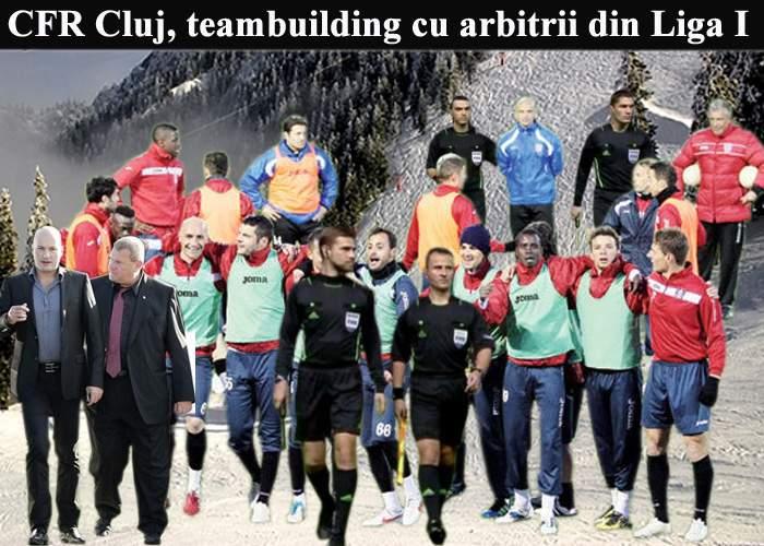 Jucătorii de la CFR Cluj au plecat în teambuilding cu arbitrii din Liga I
