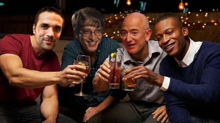 Ion Ion Ţiriac, petrecere nebună cu Bill Bill Gates şi Jeff Jeff Bezos