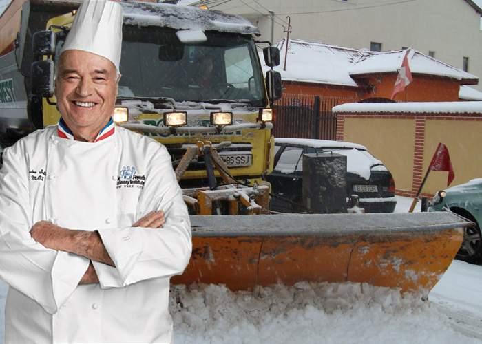 Bani aruncaţi! Drumarii au adus un bucătar francez să le spună câtă sare trebuie la deszăpezire