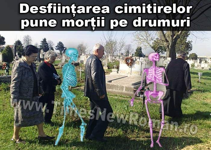 Treizeci de cimitire au fost desființate. Morții au ajuns să facă naveta