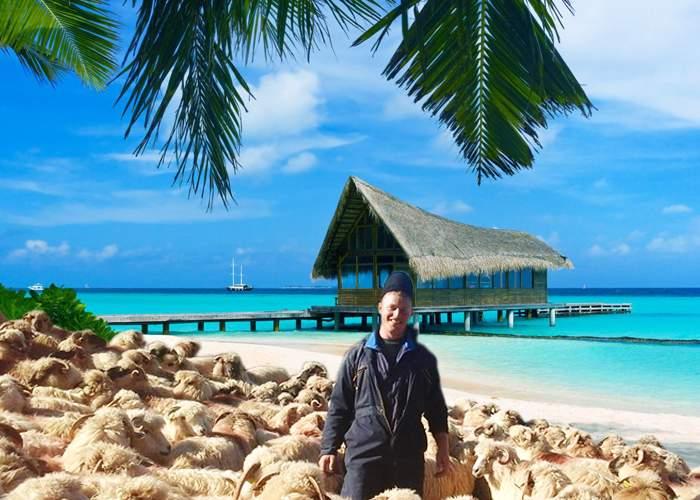 Adio, zăpadă! Cu banii de la Vodafone, ciobanul Ghiță a plecat cu tot cu oi în Bahamas