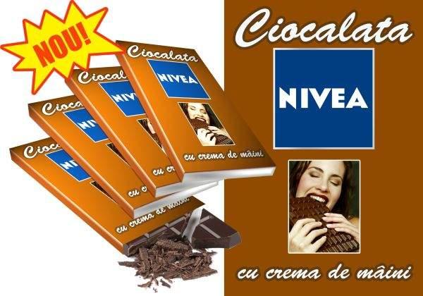 Ciocolată Nivea cu cremă de mâini