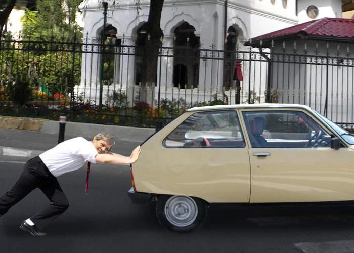 Câtă modestie! Cioloş a refuzat coloana oficială, fiindcă poate să-şi împingă singur Oltcitul