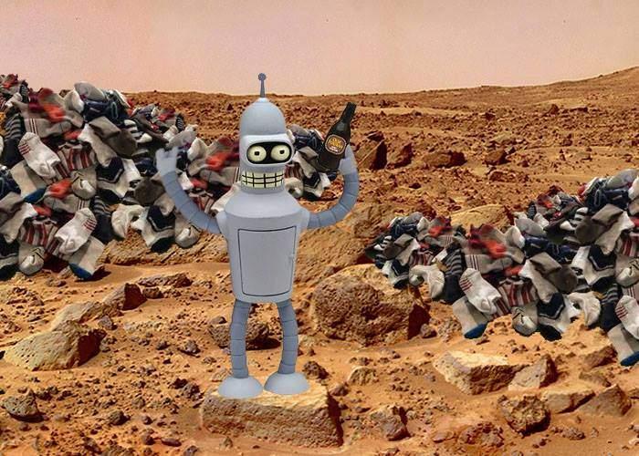 Acolo erau! Robotul românesc de pe Marte a găsit acolo milioane de ciorapi desperecheaţi